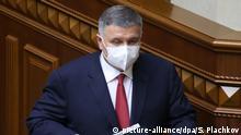 Ukraine Parlament Sitzung Arsen Avakov