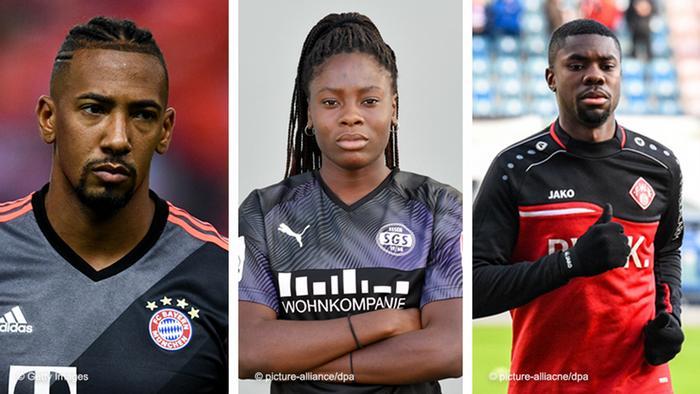 A photo showing Jerome Boateng, Nicole Anyomi and Leroy Kwadwo