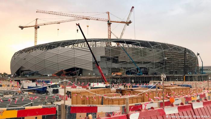 Fußball Weltmeisterschaft Stadion Katar Baustelle