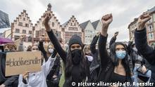 Black-Lives-Matter protest in Frankfurt