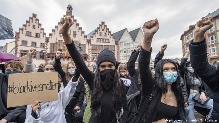 Black-Lives-Matter protest in Frankfurt