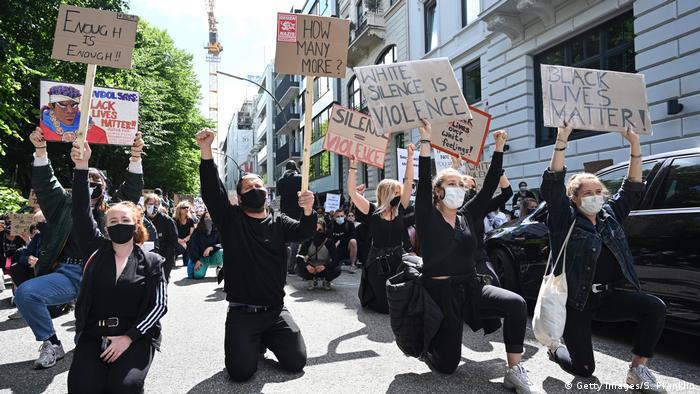 Deutschland Hamburg | Protest | George Floyd (Getty Images/S. Franklin)