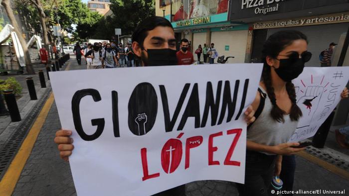 Proteste um den Tod von Giovanni Lopez (picture-alliance/El Universal )