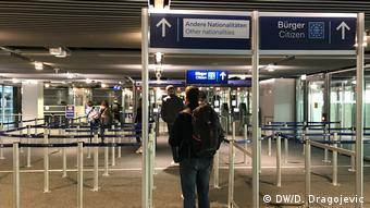 Паспортный контроль в аэропорту Дюссельдорфа