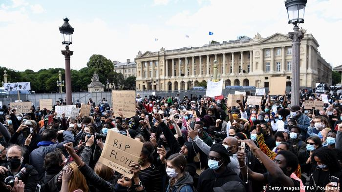 Frankreich I Black Lives Matter Demonstration in Paris (Getty Images/AFP/A. Poujoulat)