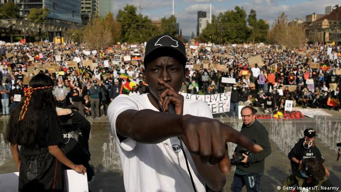 Australien Adelaide | Demonstration gegen Rassismus (Getty Images/T. Nearmy)