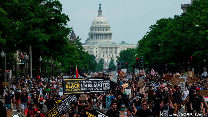 USA: Black Lives Matter Protest in Washington D.C. (Getty Images/AFP/R. Schmidt)