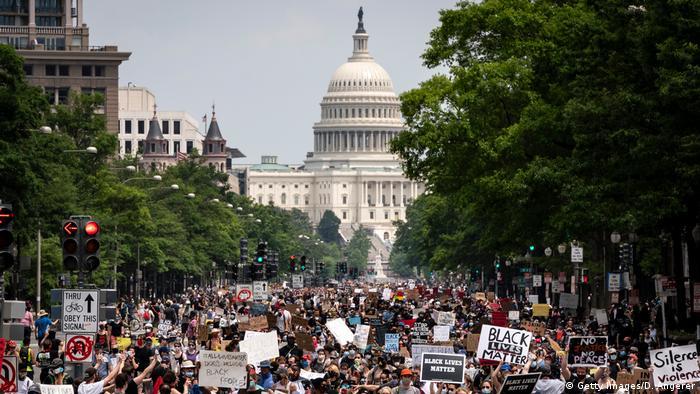 USA: Black Lives Matter Protest in Washington D.C. (Getty Images/D. Angerer)