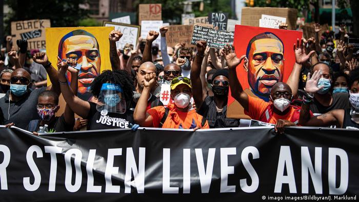 Black Lives Matter Protest in Washington Square Park in New York City (imago images/Bildbyran/J. Marklund)