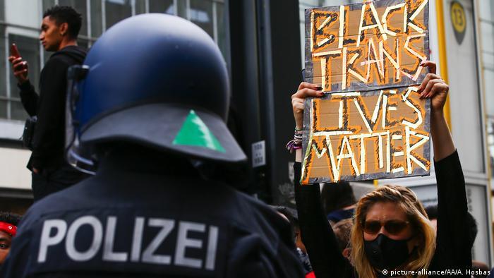 Black Lives Matter protest in Berlin