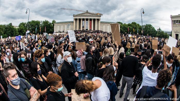 Deutschland | München | Black Lives Matter Protest (picture-alliance/ZUMAPRESS/S. Babbar)