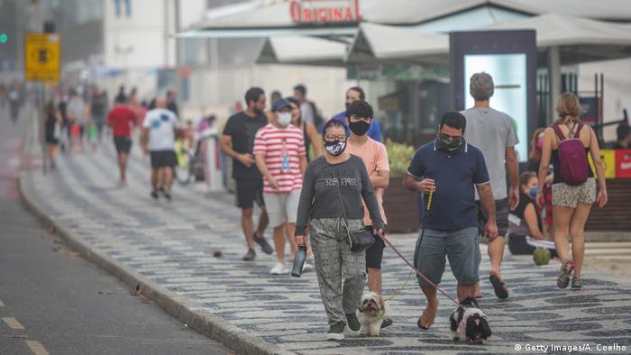 Brasilien Covid 19 Lockerungen in Rio de Janeiro