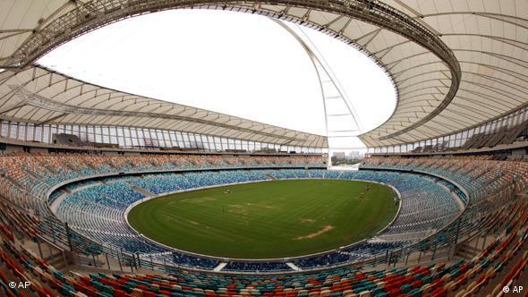 Innenansicht des Moses-Mabhida Stadions in Durban (Foto: AP)