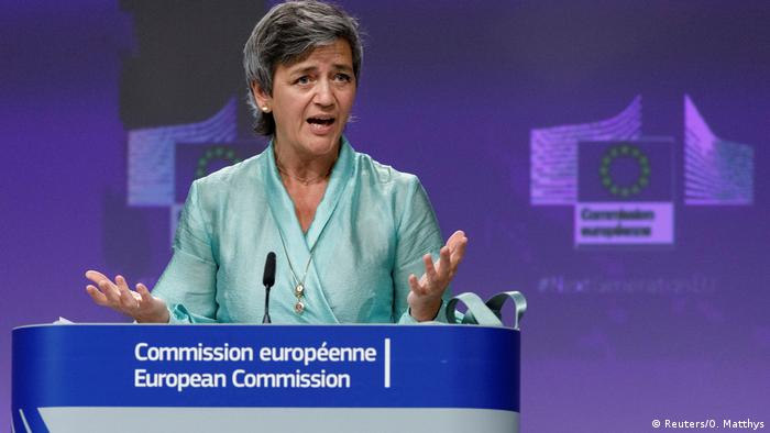 EU Commission executive Vice President Margrethe Vestager