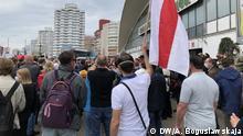 Weißrussland, Minsk, 7. Juni, Weißrussland Kundgebung zur Unterstützung der Präsidentschaftskandidatin Swetlana Tichanowskaja in Minsk. Foto: DW/A. Boguslawskaja