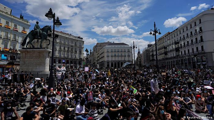 Spanien Black Live Matter Proteste in Madrid (Reuters/J. Medina)