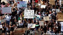 Italien Black Live Matter Proteste in Rom
