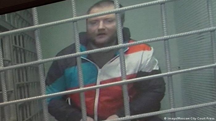 Der russische Aktivist Wladimir Woronzow am 27. Mai bei der Anhörung vor einem Moskauer Gericht (Foto: Imago/Moscow City Court Press)