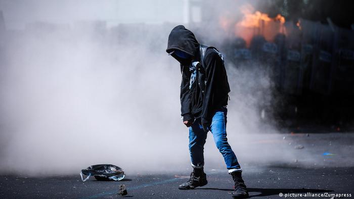 Black-Live-Matter-Proteste in Mexiko-Stadt (picture-alliance/Zumapress)