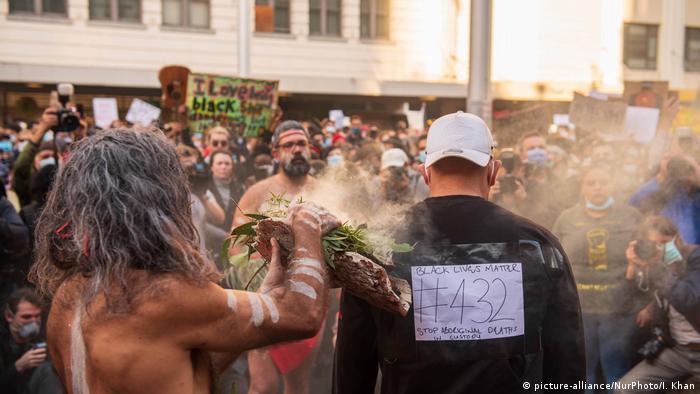 Black-Lives-Matter-Proteste in Sydney (picture-alliance/NurPhoto/I. Khan)