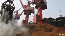 China Australien Wirtschaft Rio Tinto und Chinalco betreiben Eisenerzlagerstätte in Guinea Hafen in Rizhao