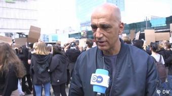 Активіст Тагір Делла на акцію проти расизму