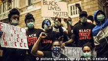 Spanien Black Live Matter Proteste in Barcelona