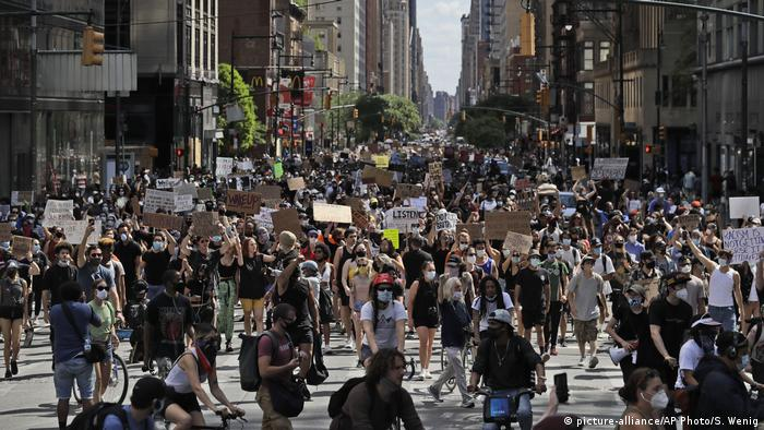 Anti-racism protest in New York City, June 7, 2020