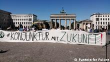 Deutschland Parents for Future Protest gegen das Konjunkturpaket