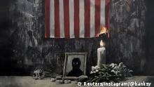 Banksy-Kunstwerk brennende US-Flagge