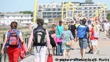 Deutschland Seebrücke in St. Peter Ording