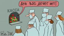 Karikatur Sergey Elkin Ärzte in Russland