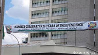 Banner zur Unabhängigkeit (Foto: DW)