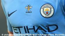 Großbritannien Fußball |Manchester City |Logo Etihad Airways