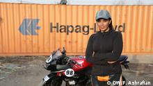 Iran Baran Hadizadeh Profi Motorradfahrerin