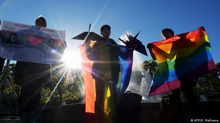 Symbolbild Russland Stop Homophobie (AFP/O. Maltseva)