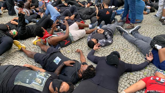 Protestos antirracismo no Rio de Janeiro