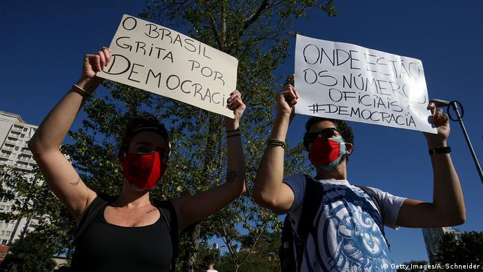 Brasilien Sao Paolo   Protest & Demonstration für Demokratie