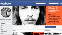 Screenshot Facebook russischer Musiker Denis Kaznacheev