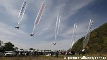 Südkorea Luftballons mit Flugblättern gegen Nordkorea über die Grenze