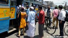 Indien Coronavirus - Lockerungen der Beschränkungen in Kalkutta