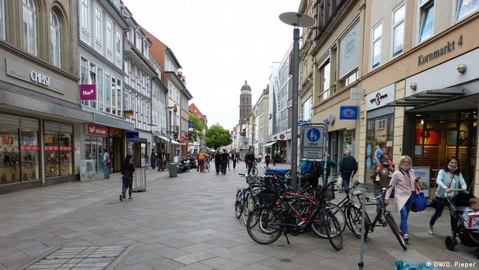 Deutschland Coronaausbruch in Göttingen Fußgängerzone