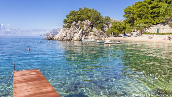 Podrace Beach near Brela and Makarska, Croatia, Europe