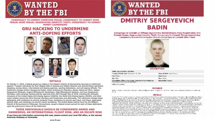 Screenshot FBI Dimitriy Sergeyevich Badin