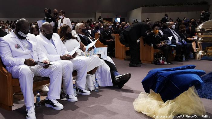 USA Houston | Beerdigung von George Floyd (picture-alliance/AP Photo/D. J. Phillip)