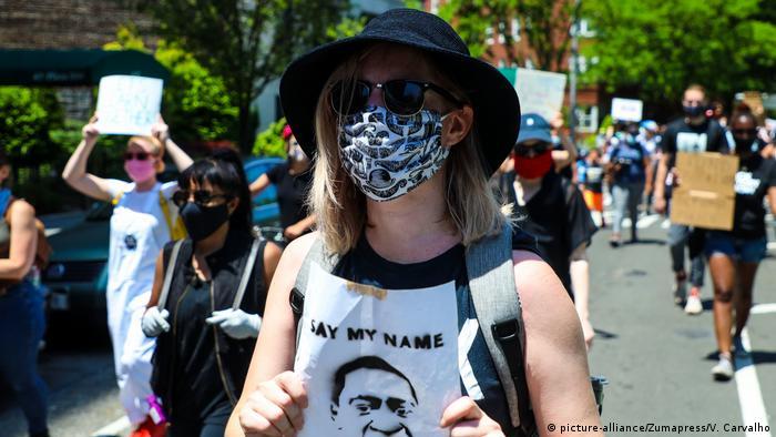 USA   Tod George Floyd   Rassismus   Polizeigewalt   Black Lives Matter   New York (picture-alliance/Zumapress/V. Carvalho)