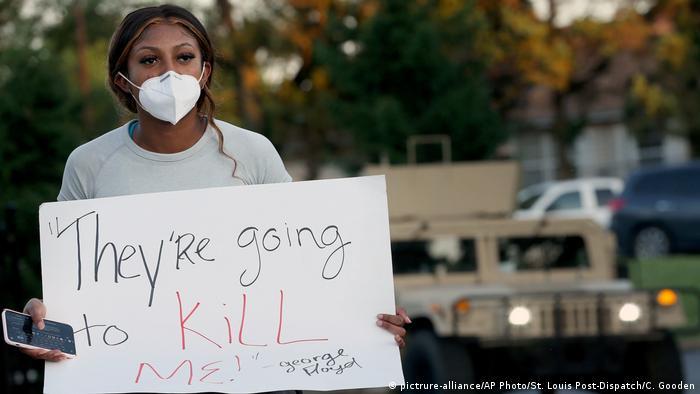 USA | Tod George Floyd | Rassismus | Polizeigewalt | Black Lives Matter | Florissant (pictrure-alliance/AP Photo/St. Louis Post-Dispatch/C. Gooden)