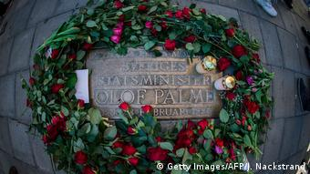Μνημείο στο σημείο δολοφονίας του Πάλμε