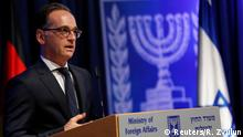 10.06.2020 German Foreign Minister Heiko Maas gestures as he speaks during a news conference with his Israeli counterpart Gabi Ashkenazi in Jerusalem June 10, 2020. REUTERS/Ronen Zvulun
