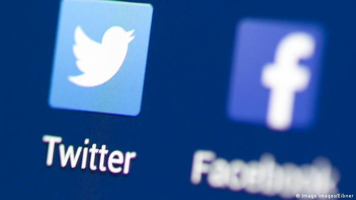 Icons von Facebook und Twitter